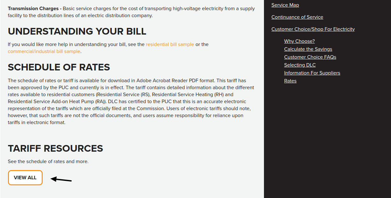 Duquesne Light Company Rates