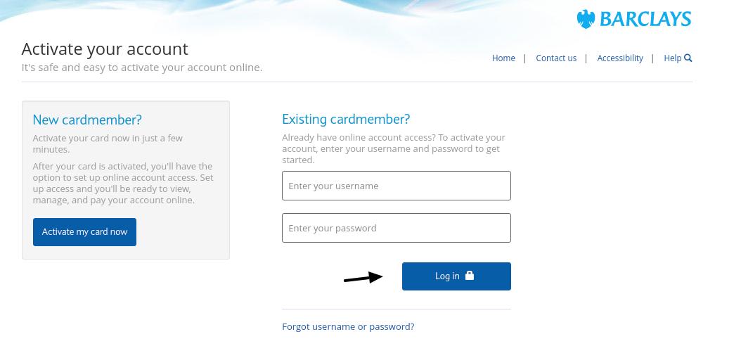 Barclays US Credit Card Login