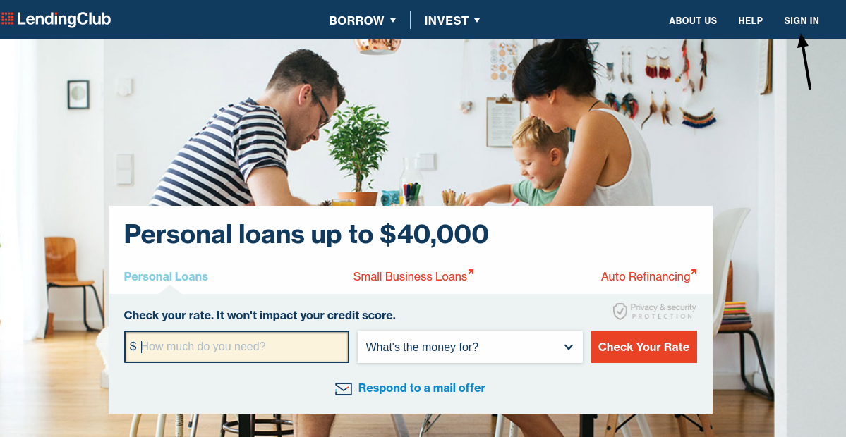 LendingClub Personal Loan Login
