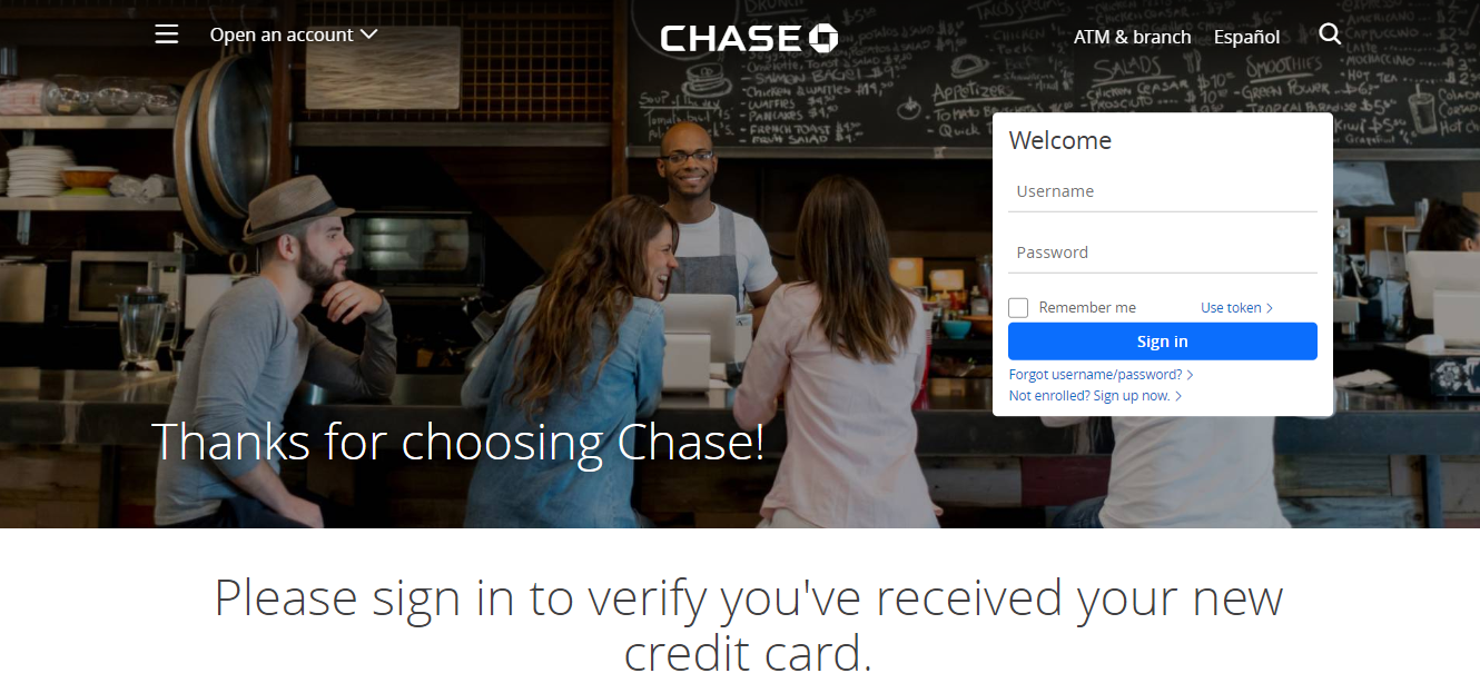 Activate Chase Card Online