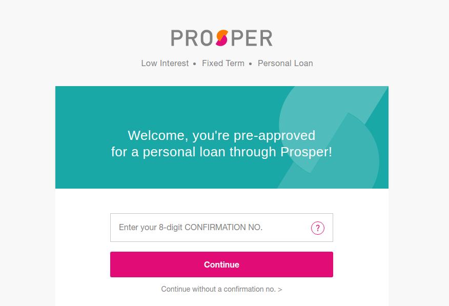 Prosper Personal Loan