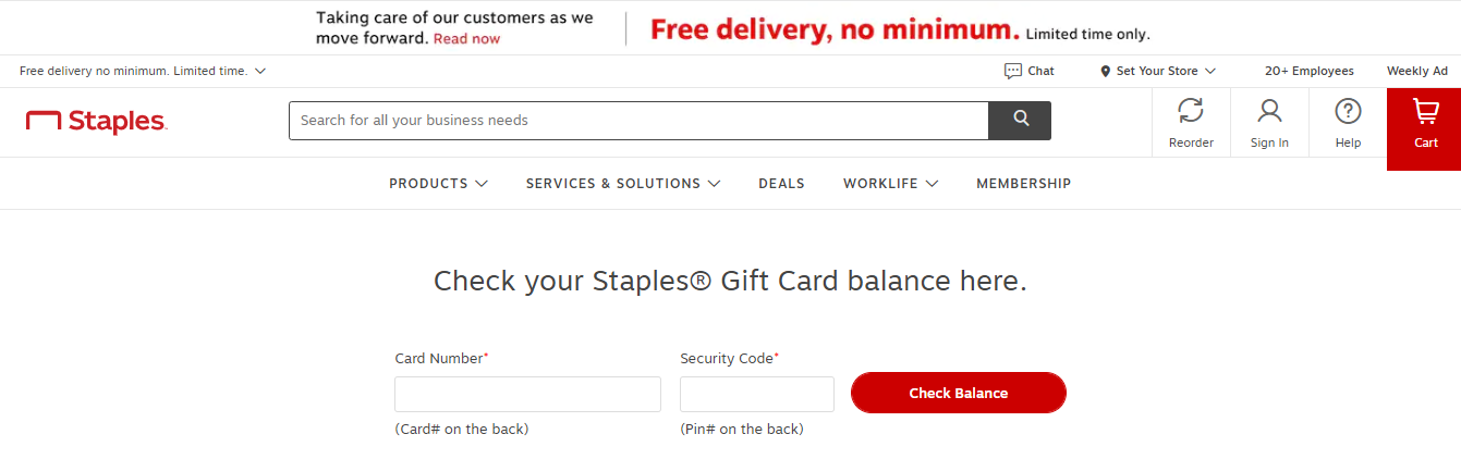 Staples eGift Card