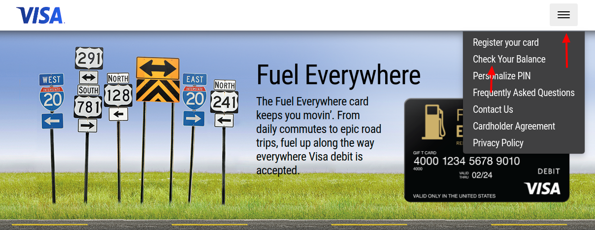 Fuel Everywhere Gift Card Check Balance