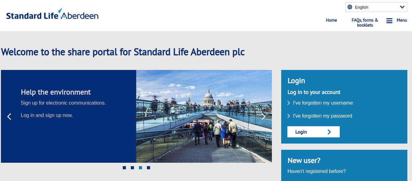 Standard Life Aberdeen shares Logo