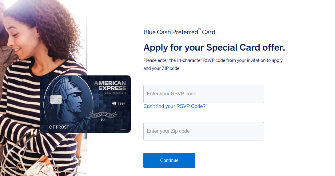 American Express Credit Card Invitation