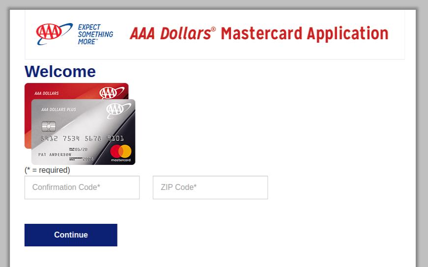 AAA Dollars MasterCard login