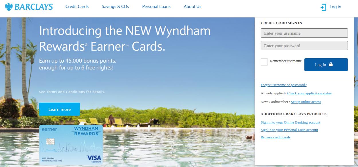 Barclays Card Login