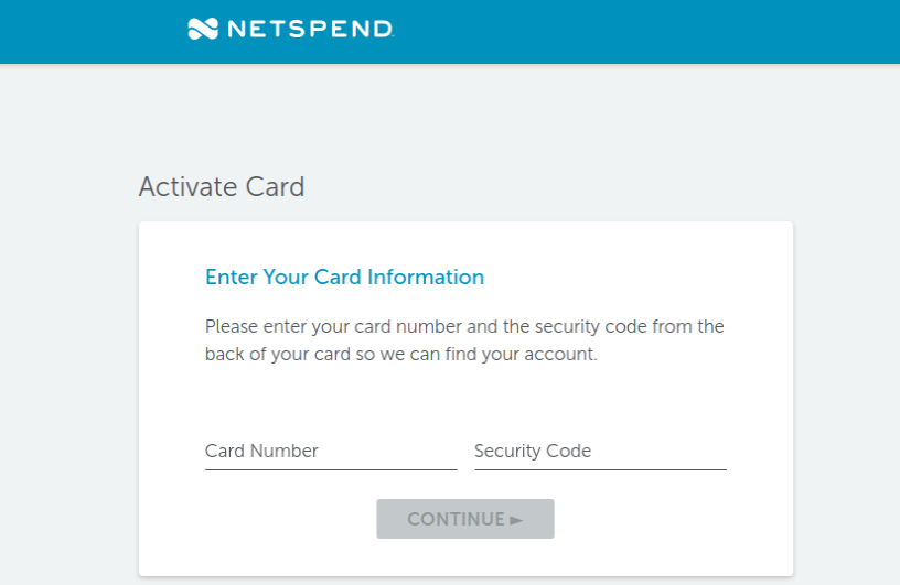 NetSpend Card Activate