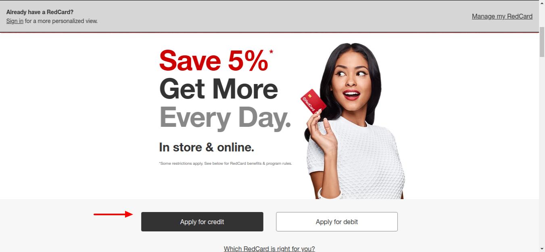 RedCard Target Apply