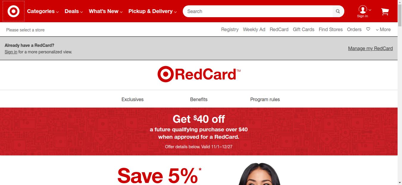 RedCard Target Logo