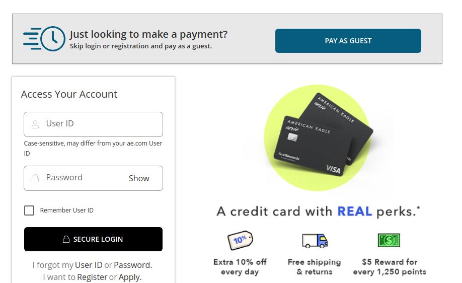 AEO Credit Card Login