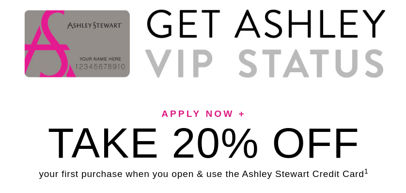 Ashley Stewart Credit Card Logo
