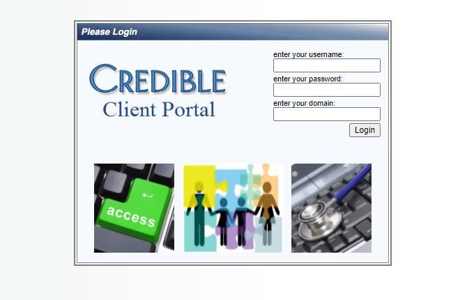 credible client login