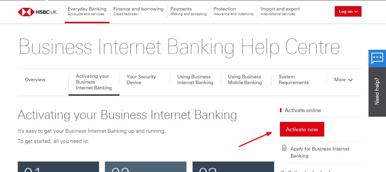hsbc debit card activation