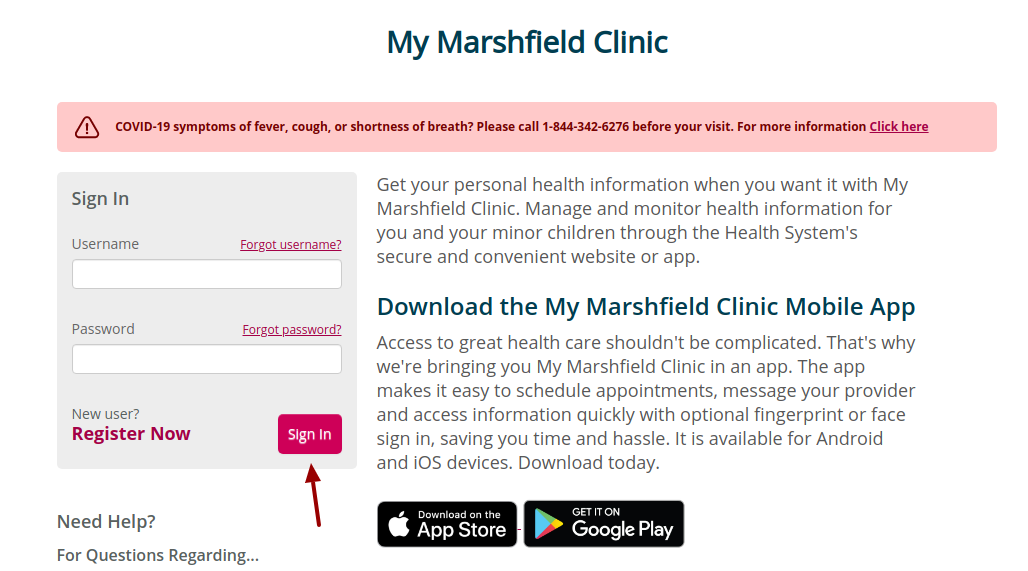 marshfield clinic login