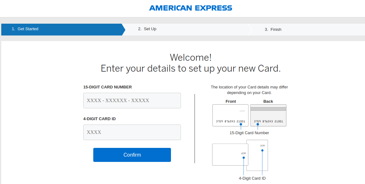 activate american express card